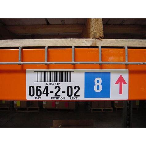 Warehouse Rack Labeling Systems by Rack Bin Barcode Labels All Barcode Systems