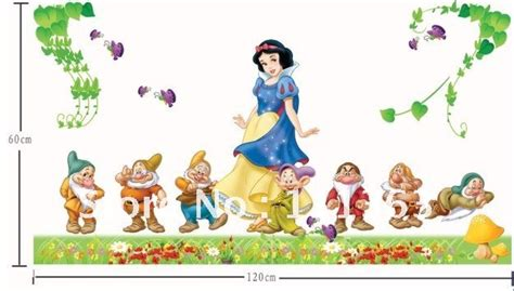 snow white wall stickers free shipping diy snow white wall sticker bathroom wall sticker wholesale 2sets lots size 1 2m