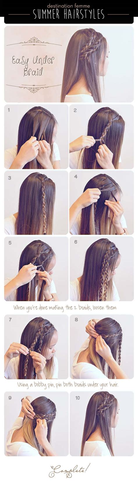 easy braided hairstyles for long hair step by step 40 of the best cute hair braiding tutorials