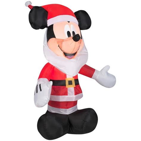 mickeyunlimited electric christmas decorations shop disney 3 51 ft x 2 49 ft lighted mickey mouse at lowes
