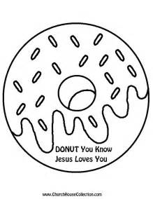 Donut printable template black and white clipart image coloring page