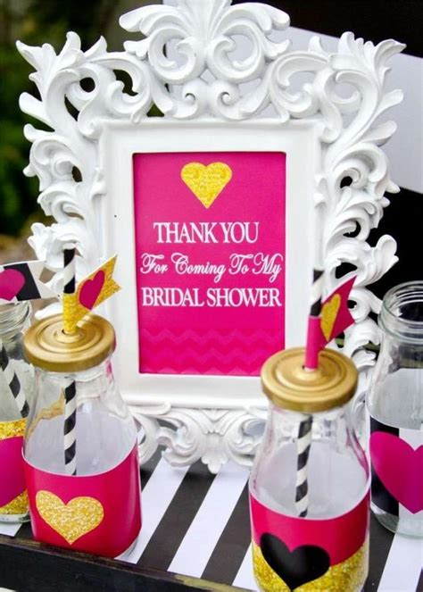 pink and black bridal shower decorations pink black and white bridal wedding shower ideas 2520827 weddbook