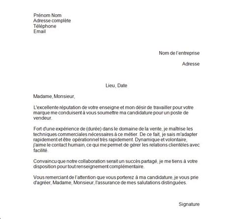 lettre de motivation vendeuse