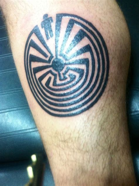maze tattoo designs in the maze