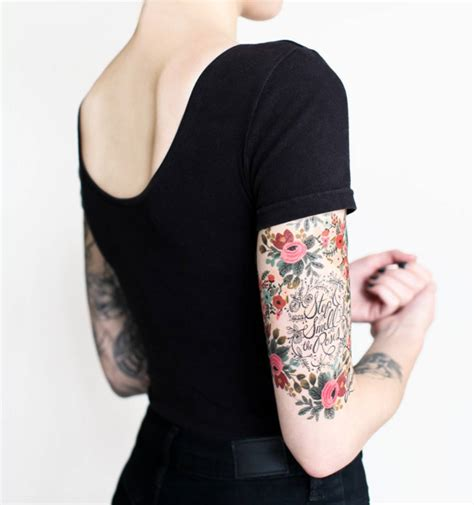 Temporary Tato Setan floral set temporary tattoos by tattly made in usa