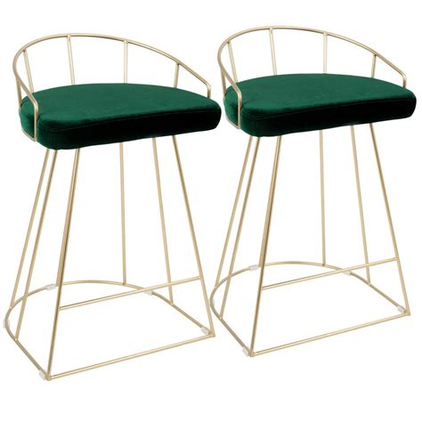 Green Counter Stools by Lumisource Canary Contemporary Gold With Green Counter