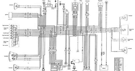 kawasaki klr250 klr 250 wiring diagram