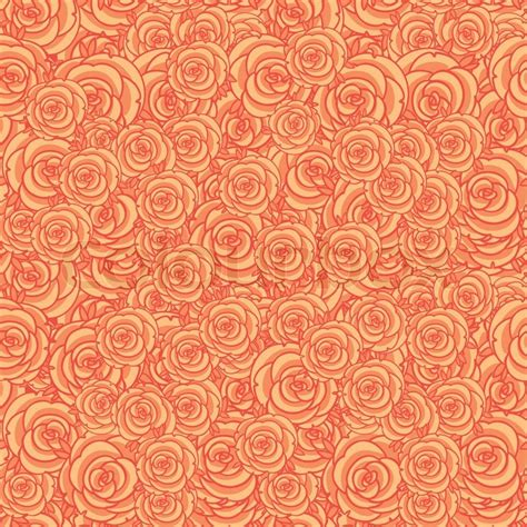 security background pattern vector cute orange floral seamless pattern background stock