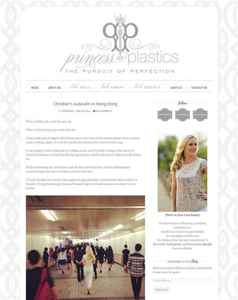 lifestyle blog design lifestyle blog for princess of plastics