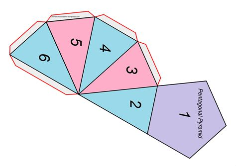 How To Make A Pentagonal Pyramid Out Of Paper - complex shape printable pentagonal pyramid home school