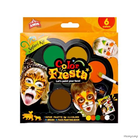 colors amos amos color paint kit safari colours of 6