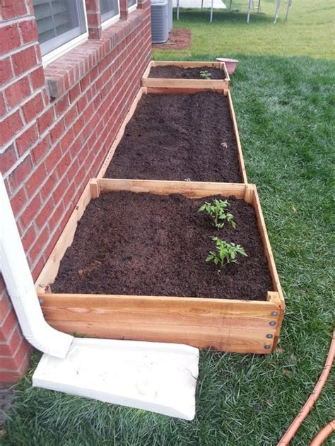 Garden Bed Walls Proximity Of Raised Bed To The Wall