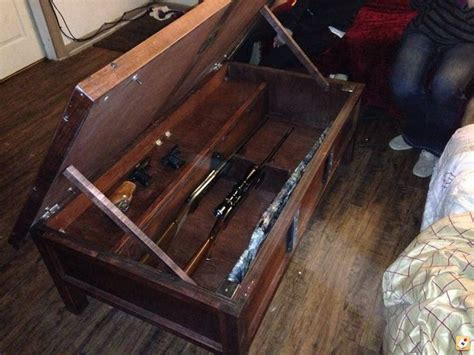 gun cabinet coffee table plans woodworking