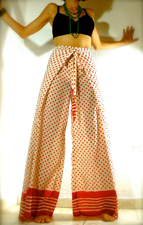 sale red dots high waist wrap  skirt pant  raysragz