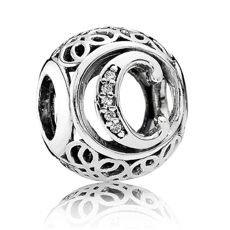 pandora vintage letter c charm 791847cz from gift and wrap uk