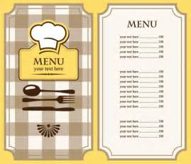 menu templates free set of cafe and restaurant menu cover template vector 03