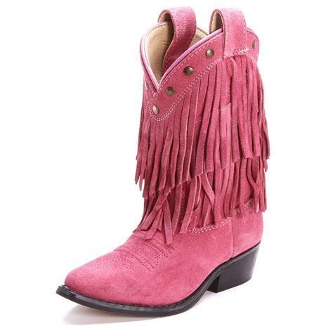 pink boots for childs pink wisteria fringe dress fashion suede