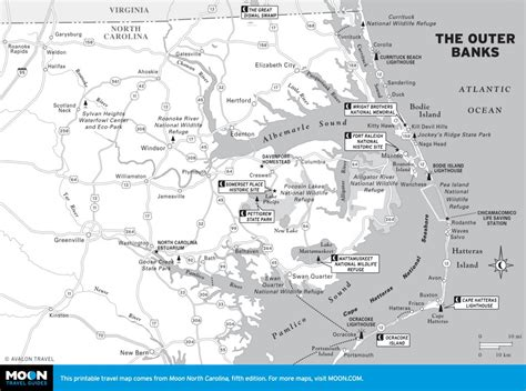map of outer banks nc outer banks vacation guide visiting north carolina s cape lookout national seashore