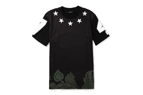 givenchy shirt givenchy embellished printed cotton t shirt hypebeast
