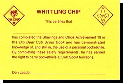 whittling handbook whittlin chip requirements the virtual cub scout leader s handbook