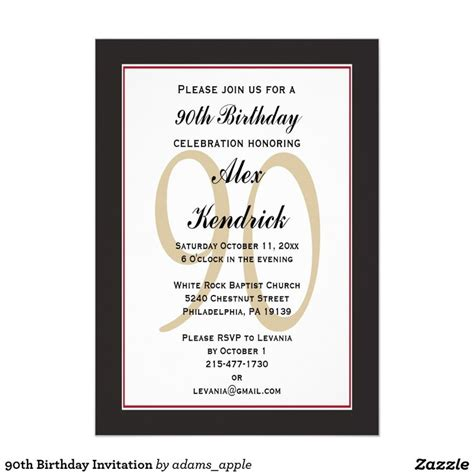 90th birthday invites templates 90th birthday invitation invitations birthdays and