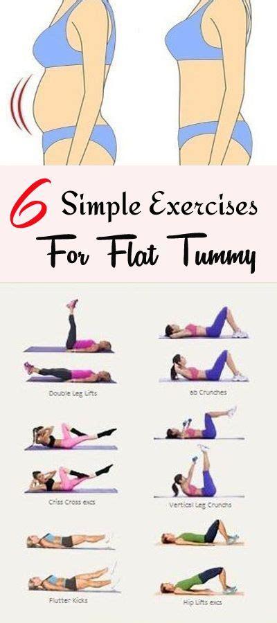 simple exercises  flat tummy   weeks dream