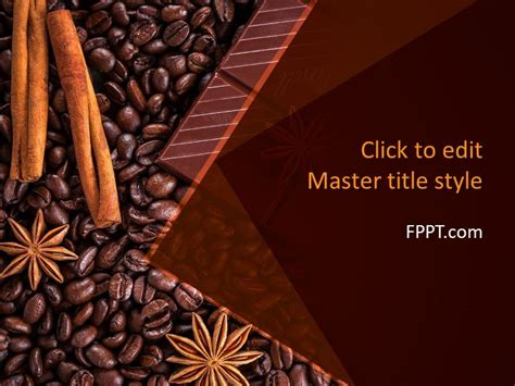 Free Brown Powerpoint Templates Chocolate Powerpoint Template