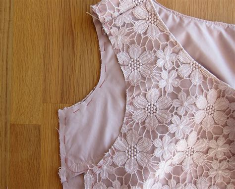how to sew onto lace sew column and my lace it your way dress tutorial