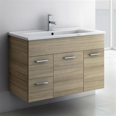 33 Inch Bathroom Vanity Modern 32 Inch Loren Vanity Set With Ceramic Sink Larch Canapa Zuri Furniture