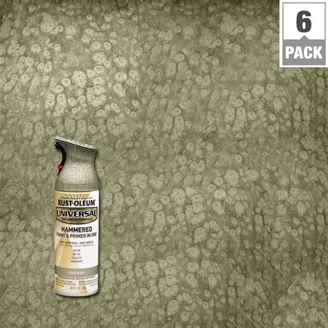 home depot paint rust rust oleum universal 12 oz all surface hammered rosemary