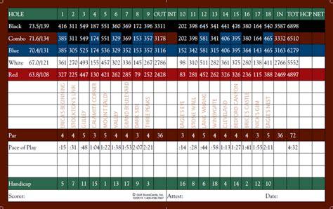 gleneagles wedding brochure score card eagle glen golf club