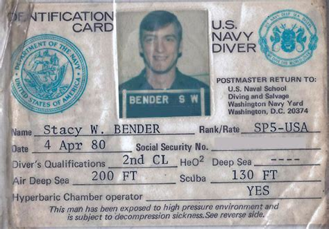 dive card picture this miscellaneous photo pages army salvage diving