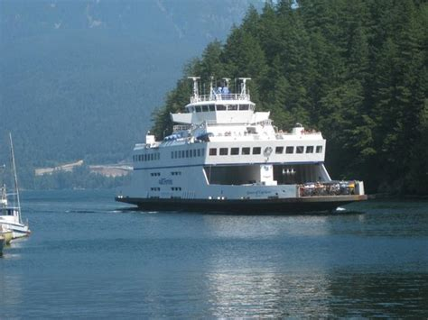 fast boat vancouver to victoria ferry approaching snug cove bowen island picture of bc