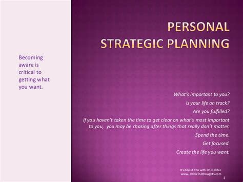 personal strategic plan template personal strategic planning