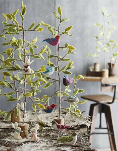 felted bird ornaments by roost felt love pinterest