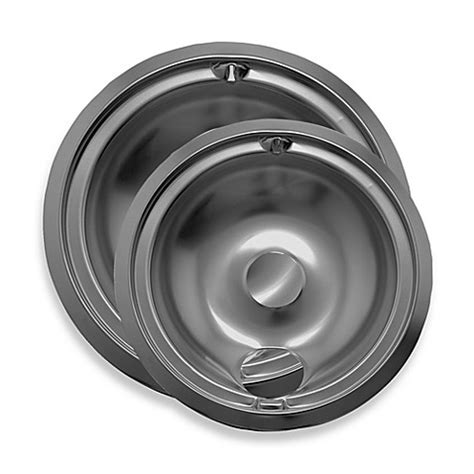 Kitchen Stove Drip Pans by Range Kleen 174 2 Pack Style B Drip Pan In Chrome Bed Bath