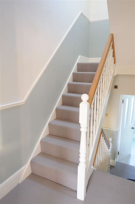 1930s banister dado rails and replaced handrails and spindles hall