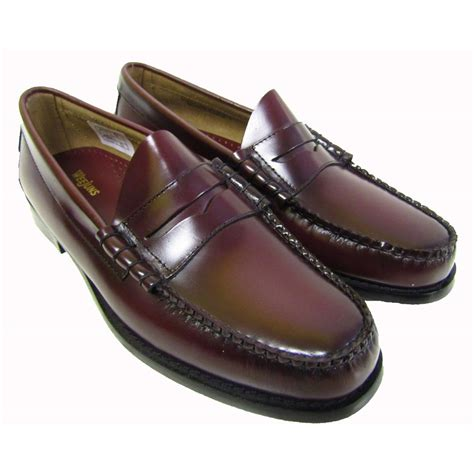 bass weejun loafers bass weejuns larson loafers in burgundy