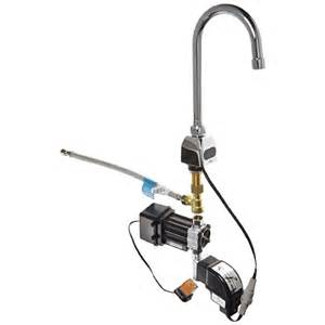 zurn aquasense wall mount battery powered single hole aqua touch chrome kitchen faucet aqua touch chrome