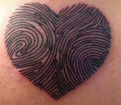 tattoo fingerprint heart heart fingerprint tattoo ideas tattoo designs