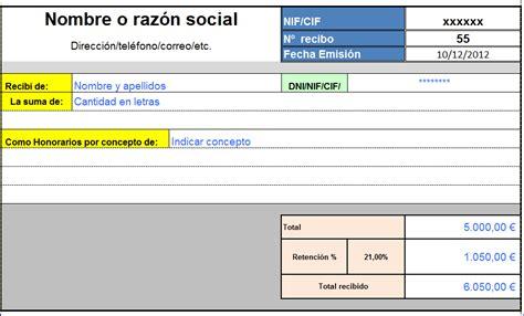 numerador automtico para facturas o recibos en excel modelo recibo