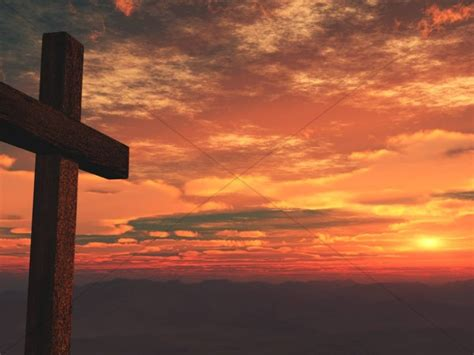 Cross Design Ministry Background Sunset   Worship Backgrounds