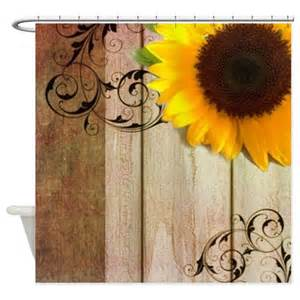 rustic barn yellow sunflower shower curtain by listing
