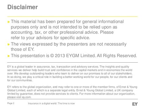 survey disclaimer template ey global insurance digital survey 2013 insurance in a