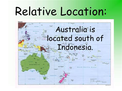 5 themes of geography for australia relative location geography