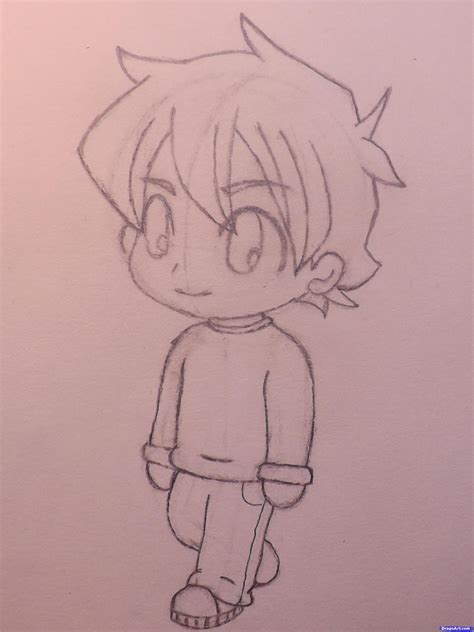 How To Draw A Chibi Boy Step By Step Chibis Draw Chibi How To Draw Chibi Boy
