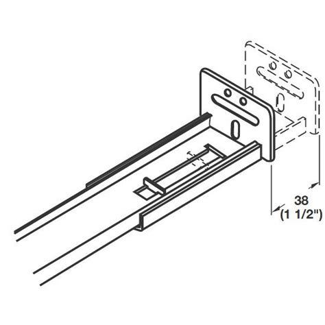 What Length Drawer Slides Do I Need by Accuride 3 4 Extension Center Mounted Drawer Slide With