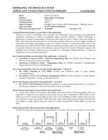 one page executive summary template best photos of one page executive summary template one