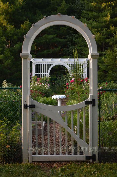 Garden Arbor Arch Plans Laminated Arched Garden Arbor With Gate