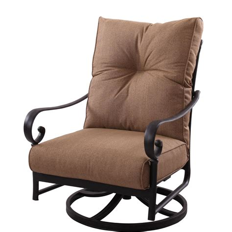 Swivel Patio Chair Darlee Santa Cast Aluminum Patio Swivel Rocker Club Chair Ultimate Patio